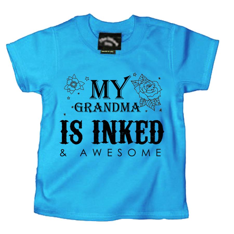 Kids MY GRANDMA IS INKED & AWESOME - TSHIRT