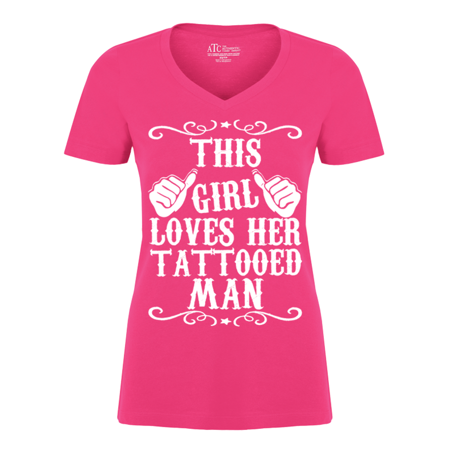Women's THIS GIRL LOVES HER TATTOOED MAN - TSHIRT
