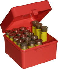 MTM Case-Gard 25 Round Shotshell Ammo Box - 20 Gauge - Red - 026057003306