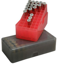 MTM Case-Gard E-50 Series Slip Top Ammo Box (38) - Clear Red - 026057102290