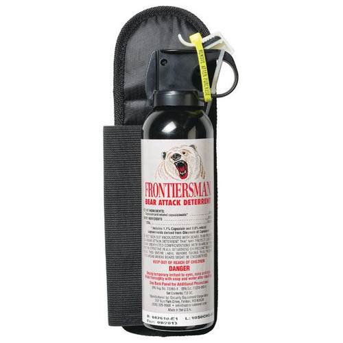 Bear Protection With Frontiersman Bear Spray: SABRE Frontiersman Bear Spray 7.9oz With Belt Holster