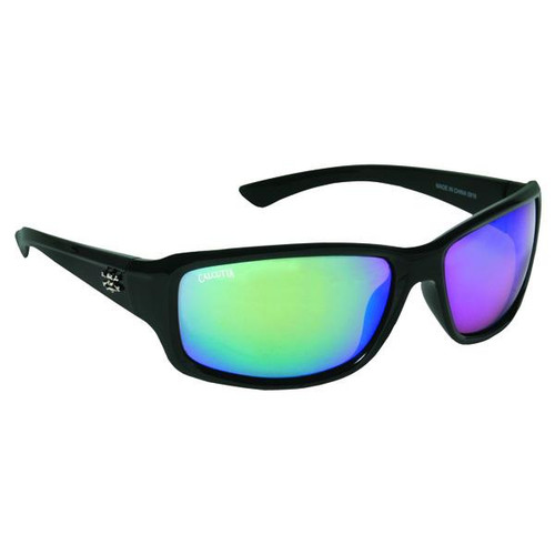 Calcutta Outrigger Sunglasses - Black Frame / Green Lenses - 768721520497