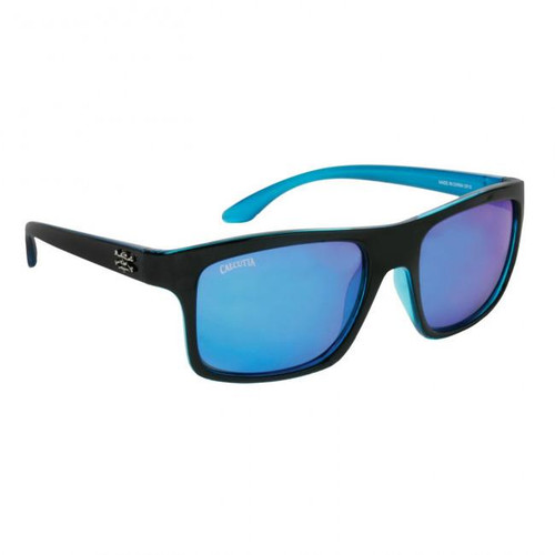 Calcutta Rip Tide Sunglasses - Black Frame / Blue Lenses - 768721520459