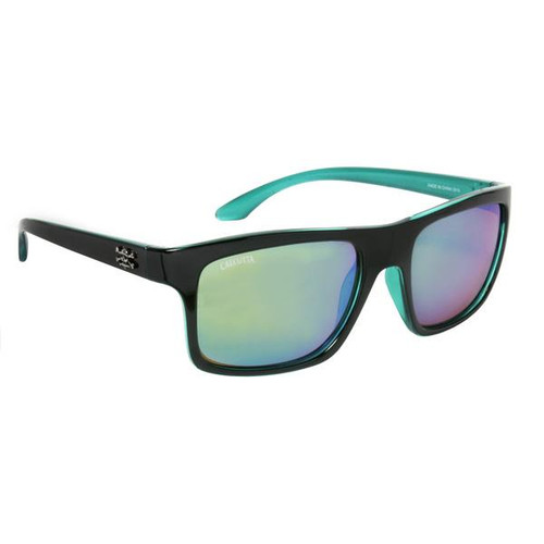 Calcutta Riptide Sunglasses - Black Frame / Green Lenses - 768721520466