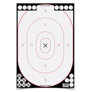 """Birchwood Casey Shoot-N-C 12"""" x 18"""" White / Black Silhouette Targets - 029057346152"""
