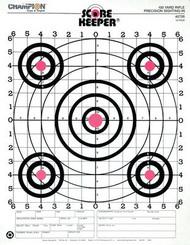 Champion 100 Yard Rifle Sight In Target Orange Bullseye 12 Per Pack - 076683457264