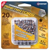 Crosman Powershot Penetrators Gold Flight .177 Caliber 125 Per Pack - 028478137240