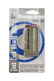 Savage Magazine for 93 Series Magnum .22 Winchester Magnum Rimfire/.17 HMR 10 Round Stainless Steel - 062654900198
