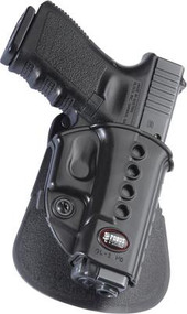 Fobus Evolution 2 Series Paddle Holster For Glock 17/19/22/23/31/32/34/35/Walther PK 380/Kahr CW 40/P45/P40/PM40/CM40 Black Right Hand - 676315006886