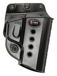 Fobus Evolution 2 Series Belt Holster For Walther PPS/CZ 97B/Taurus 709 Slim/708/740/Smith & Wesson M&P Shield 9mm Black Right Hand - 676315017752