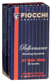 Fiocchi 22 WMR - 40 Grain JHP - 50 Rounds - 762344710051