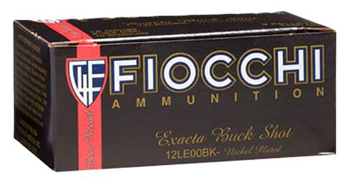 "Fiocchi High Velocity LE Buckshot - 12 Gauge - 2.75"" - 9 Pellets 00 Buck Nickel-Plated Lead Buckshot - 10 Rounds - 762344702698"