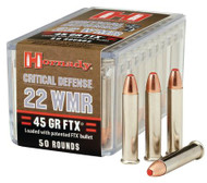 Hornady Critical Defense 22 WMR - 45 Grain FTX - 50 Rounds - 090255832006