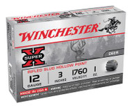 Winchester Super-X 12 Gauge 3 Inch 1760 FPS 1 Ounce Rifled Slug - 5 Rounds - 020892009585