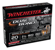 Winchester Dual Bond Fully Rifled Slug 20 Gauge 2.75 Inch 1800 FPS 260 Grain - 5 Rounds - 020892019409