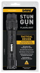 Sabre 1 Million Volt Stun Gun With Tactical Design And Flashlight - 023063808062