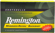 "Remington Managed-Recoil Buckshot 12 Gauge - 00 Buckshot - 2-3/4"" - 5 Rounds - 047700336503"