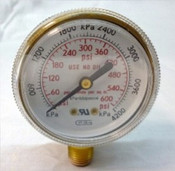 Gauge, 600PSI, 1/4NTP, Plain