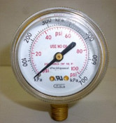 Gauge, 100PSI, 1/4NTP, Plain