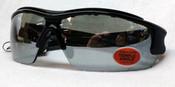 Elvex Safety Sunglasses Semi frame/Silver mirror