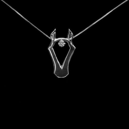 Equestrian Horse Head Slide Necklace