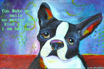 Boston Terrier- You make me smile