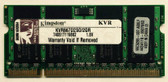 Kingston 2GB DDR2 667MHz 200-pin Laptop Memory KVR667D2SO/2GR