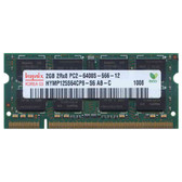 Hynix 2GB DDR2 800MHz PC2-6400 200-Pin non-ECC Unbuffered Dual Rank SoDIMM Notebook Memory HYMP125S64CP8-S6