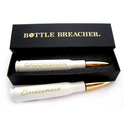 Bridesmaids Gifts Pearl White 50 Caliber Bottle Opener