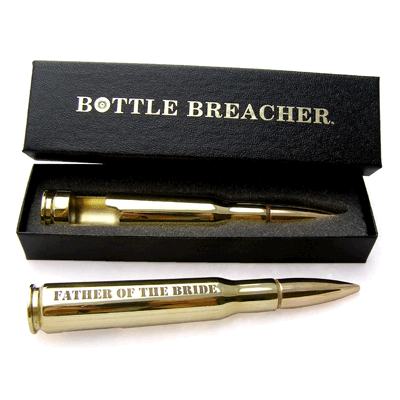 Groomsmen Gifts 50 Caliber Brass Bottle Opener