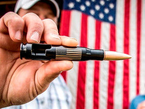 Our most popular item. American Flag Engraved 50 Caliber Bottle Opener.