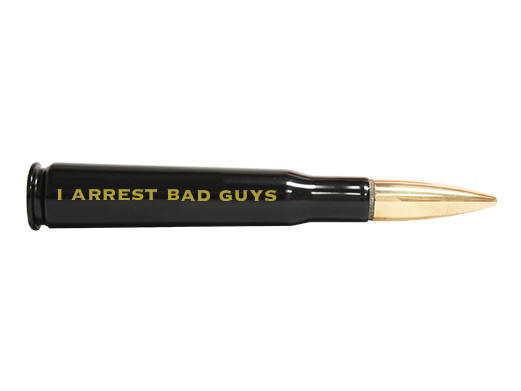 The .50 caliber bottle opener that's a perfect gift for the officer proud to slap cuffs on the bad guys day in and day out.