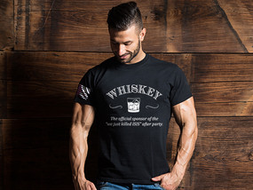 "Whiskey: The Official Sponsor Of The ""We Just Killed ISIS"" After Party Mens T-Shirt"