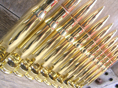 50 Caliber Bottle Openers in Brass. Man gift.