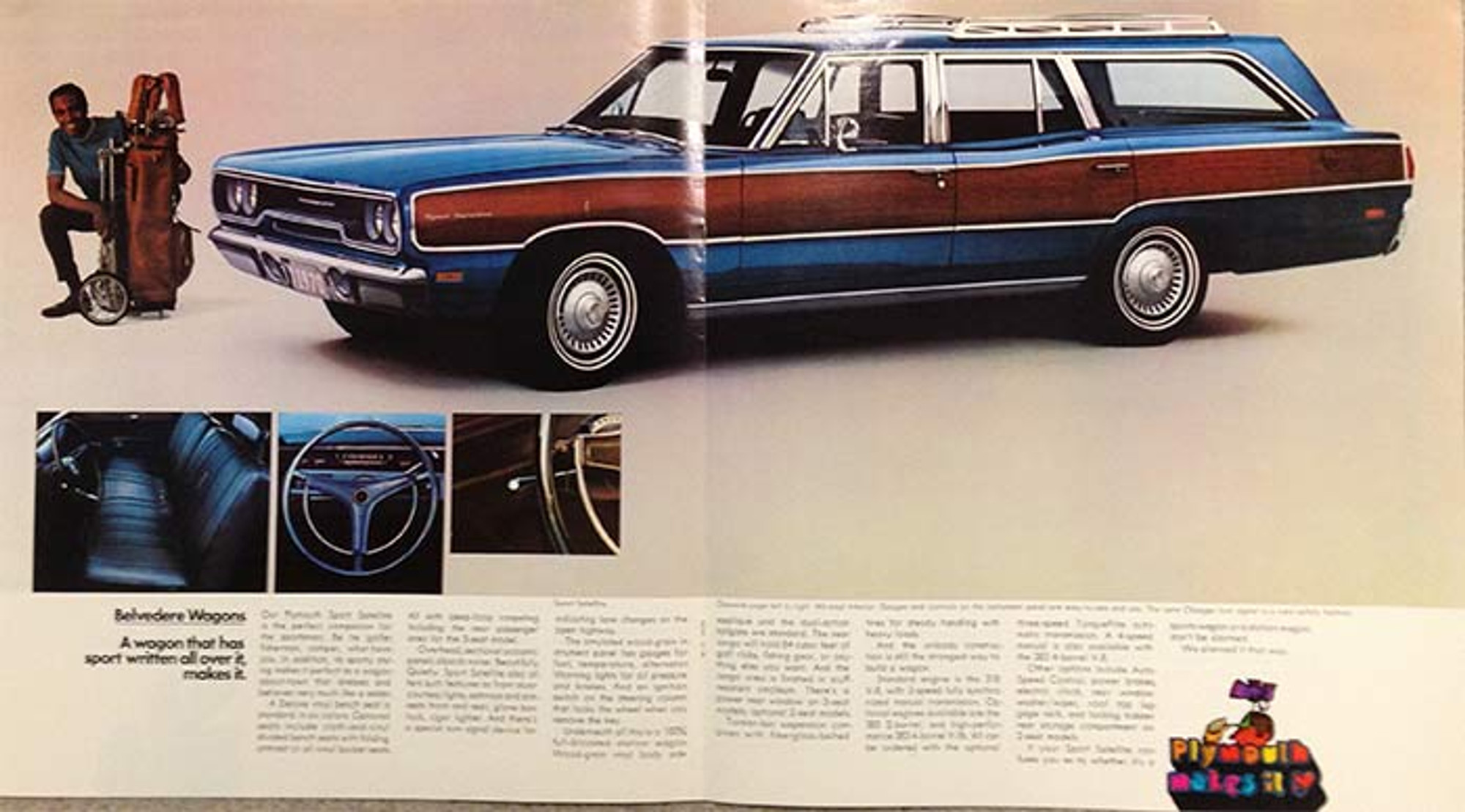 1970 plymouth station wagons 10 page color brochure for Station wagon coloring pages