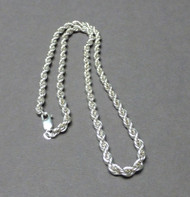 Sterling Silver French Rope Chain 4mm 20 Inches