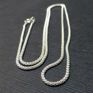 Sterling Silver 1.50mm Pop Chain. Made in Italy.