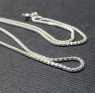 Sterling Silver 1.35mm Mirror Chain. Made in Italy. 925