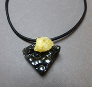 Handmade Botryoidal Hematite Druzy Courage Necklace