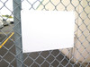 "5 pack 10""x14"" Aluminum Sign Blanks -sign blank mounted on fence"
