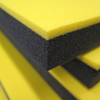 """yellow and black 1-1/4"""" pre-bonded tool foam"""