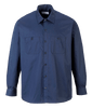Industrial Work Shirt, Long Sleeve, Navy