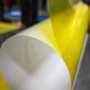 Close up look at transparent warning film