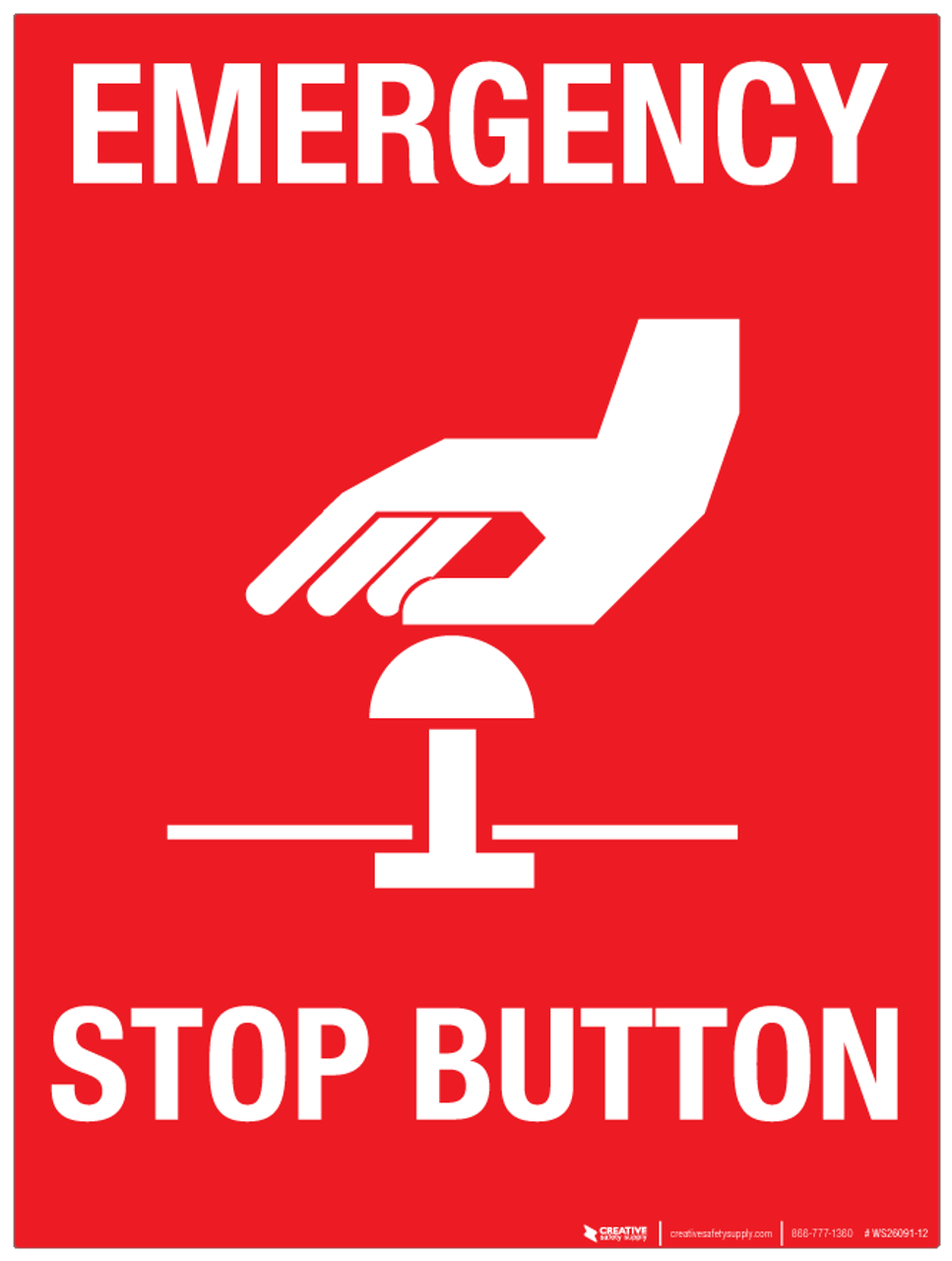 Image result for emergency stop button sign