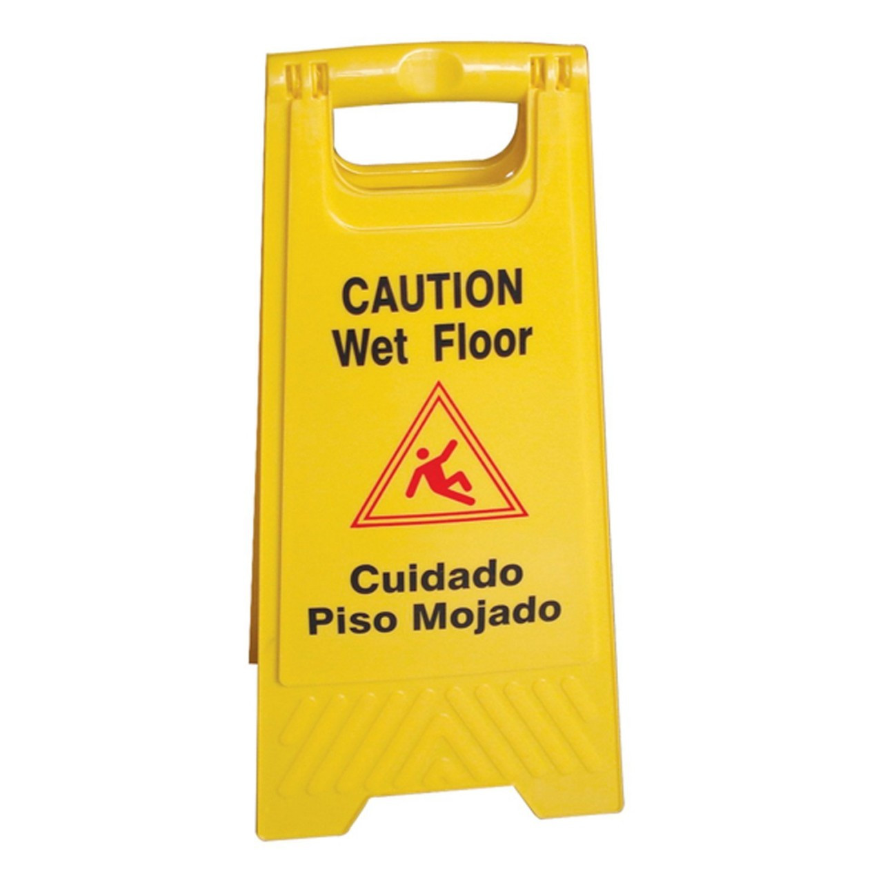 High Quality Wet Floor Caution Sign English / Spanish