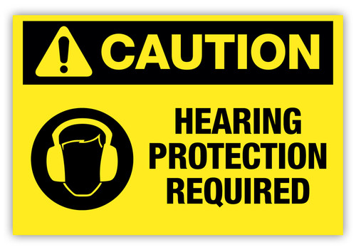 Caution - Hearing Protection Required Label Ver. 2