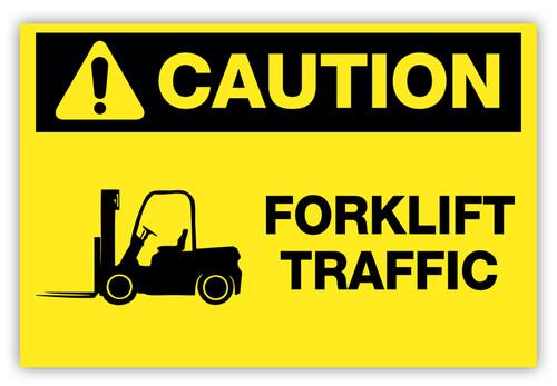 Caution - Forklift Traffic Label