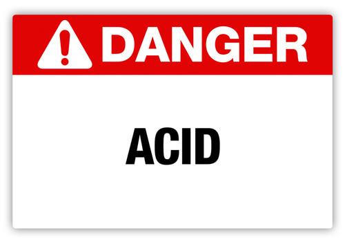 Danger - Acid Label