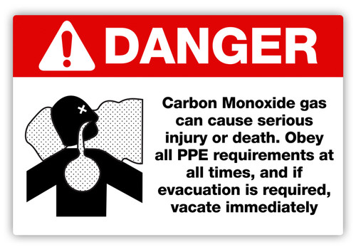 Danger - Carbon Monoxide Label