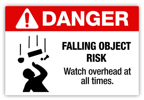Danger - Falling Object Risk Label
